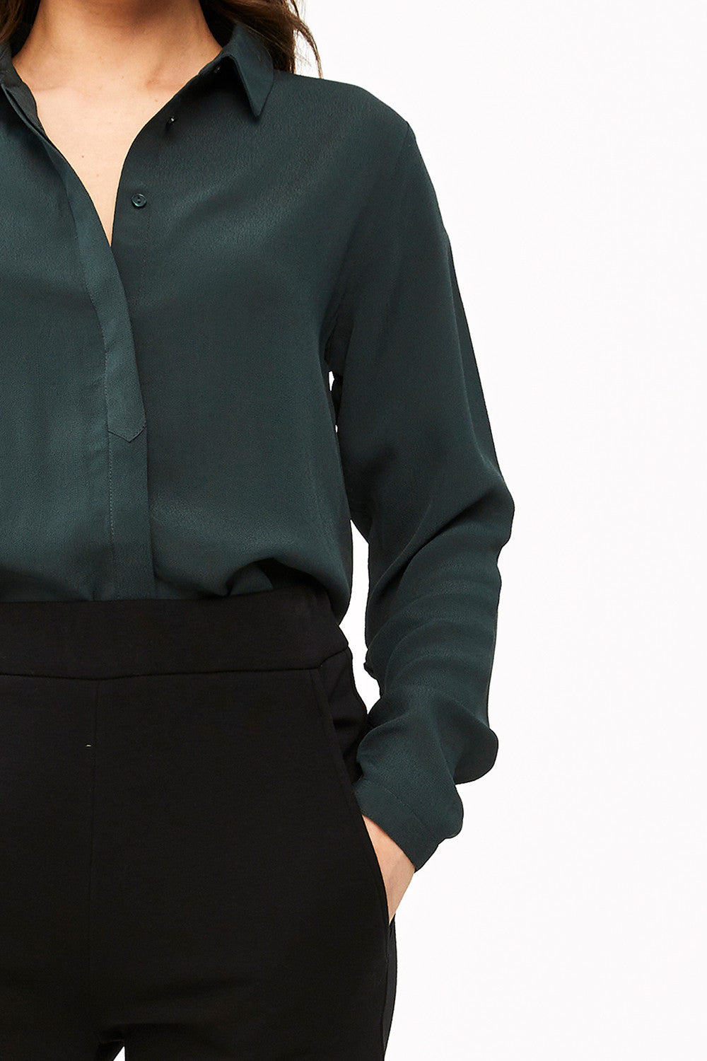 By-Bar Jonna crepe blouse vintage green