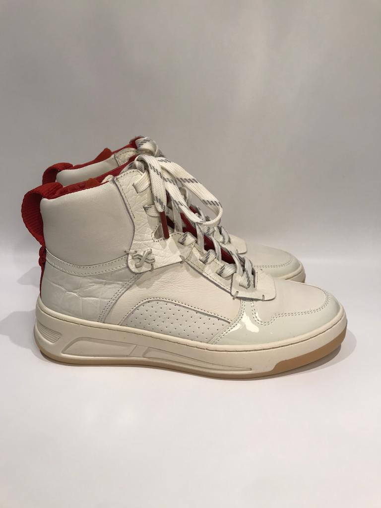 Bronx off white rust patent high sneaker