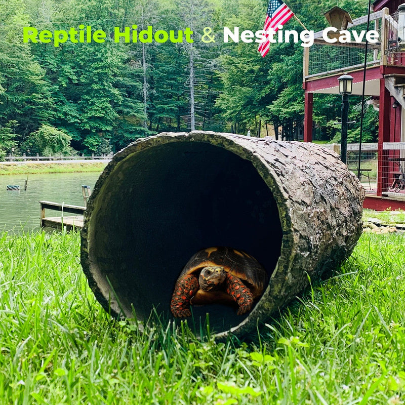 Hollow Hideaway 🌳  Large Tree Stump Reptile Hideout
