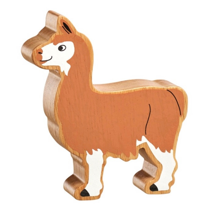 Natural Brown And White Llama