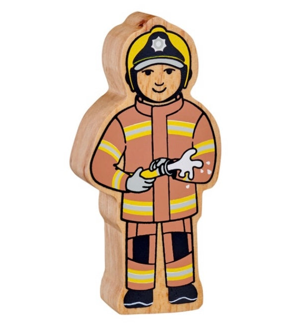 Brown And Yellow Firefighter