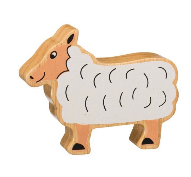 Natural Wooden Sheep