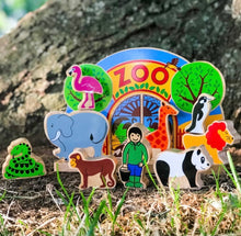 Load image into Gallery viewer, Wooden Zoo Playscene
