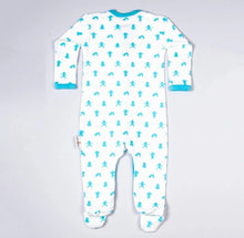 Load image into Gallery viewer, Popper Sleepsuit Blue