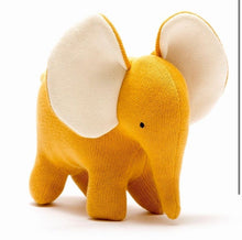 Load image into Gallery viewer, Mustard Knitted Elephant