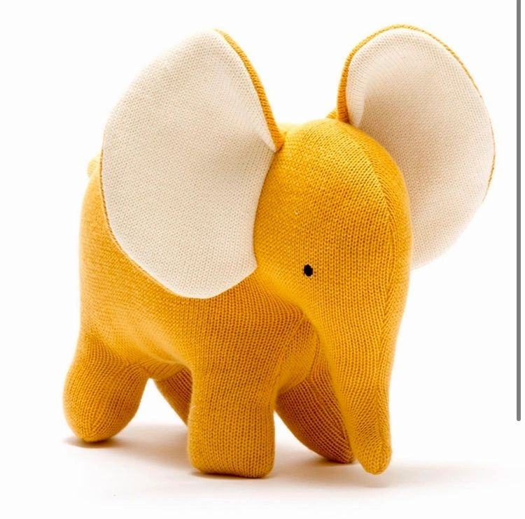 Mustard Knitted Elephant