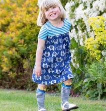 Load image into Gallery viewer, Clever Ellie Elephant Dress 12-18 Months