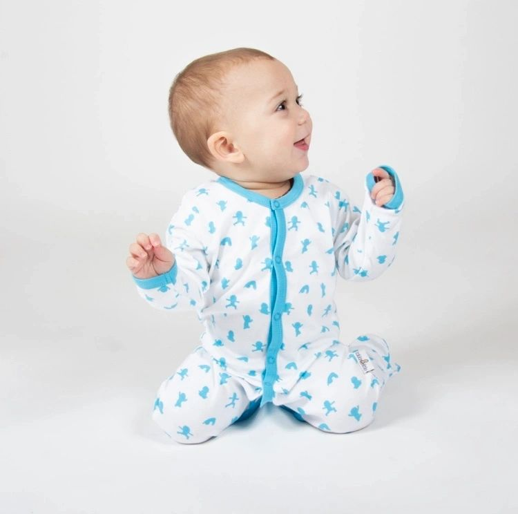 Popper Sleepsuit Blue