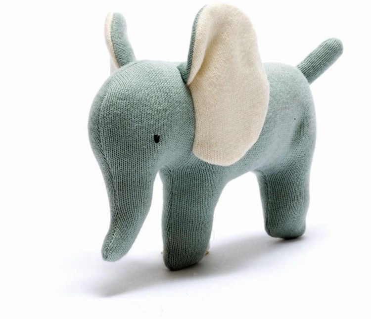 Teal Knitted Elephant