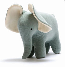 Load image into Gallery viewer, Teal Knitted Elephant