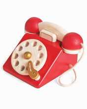 Load image into Gallery viewer, Red Vintage Style Wooden Phone