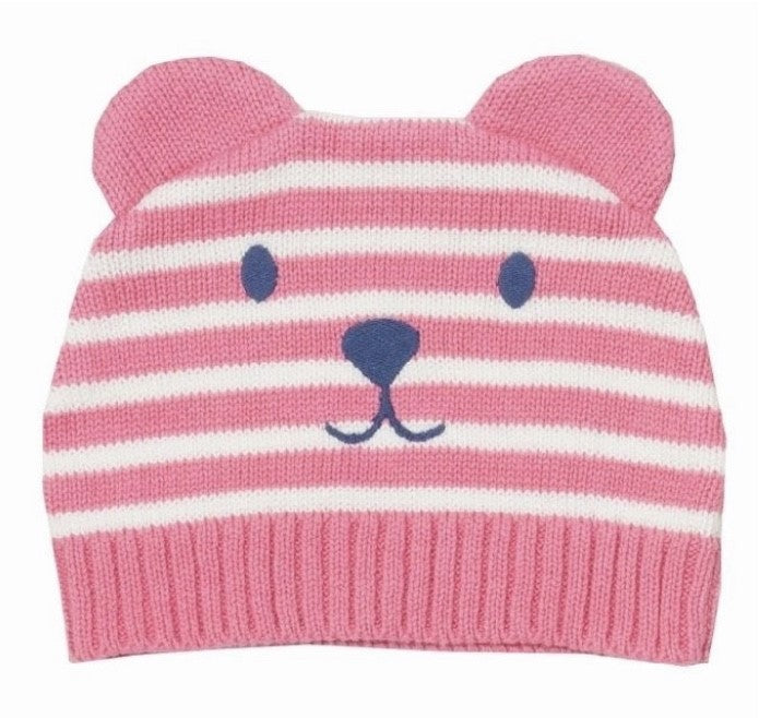 Teddy Knit Hat Pink