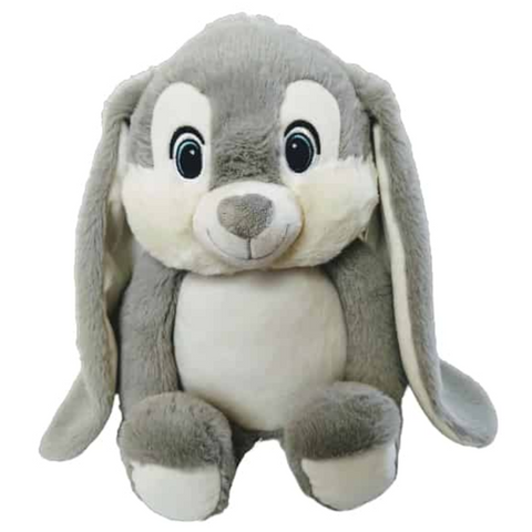 Harvey - Personalised Embroidered Bunny Rabbit - Grey
