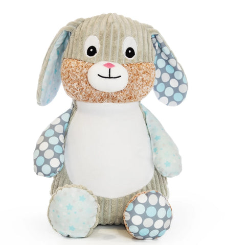 Personalised Embroidered Baby Sensory Bunny Rabbit - Starry Night