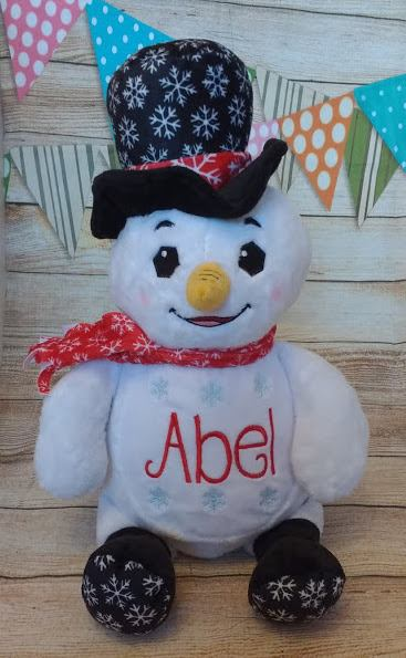 Dr Diddlington - Personalised Embroidered Snowman