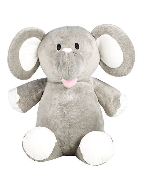 Elle - Personalised Embroidered Elephant - Grey