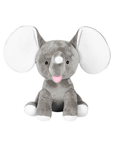 Dumble - Personalised Embroidered Elephant - Grey