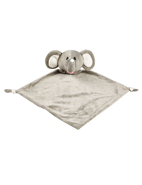 Personalised embroidered elephant baby comforter blankie