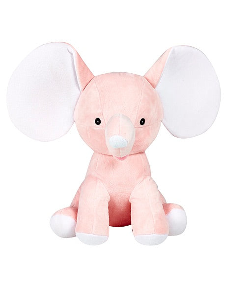 Dumble - Personalised Embroidered Elephant - Pale Pink