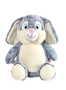 Clovis Brampton Furlong III - Personalised Embroidered Bunny Rabbit - Grey