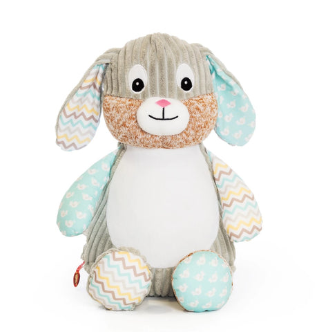 Personalised Embroidered Baby Sensory Bunny Rabbit - Mint
