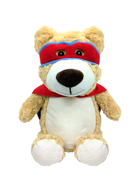 Hero Bear - Personalised Embroidered Bear - Red