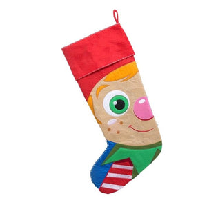 Personalised Embroidered Christmas Stocking - Elf