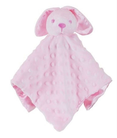 Personalised Pink Bunny Rabbit Baby Blankie
