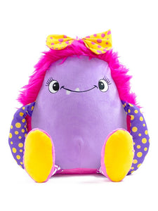 Marshmallow - Personalised Embroidered Pink Monster