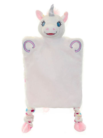 Personalised Embroidered Unicorn Puppet Comforter Blankie