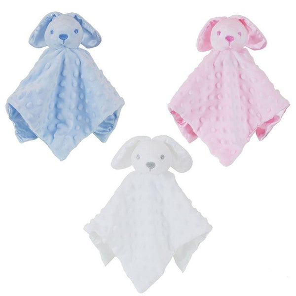Personalised Blue Bunny Rabbit Baby Blankie