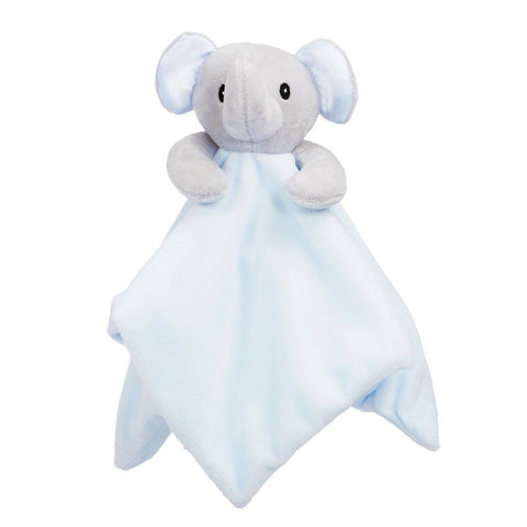 Personalised Blue Elephant Baby Blankie