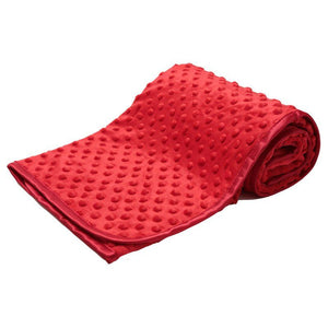 personalised embroidered red bubble embossed blanket