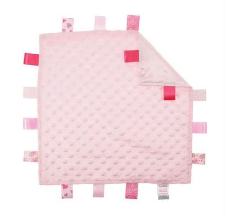 Personalised Embroidered Pink Taggie Comforter