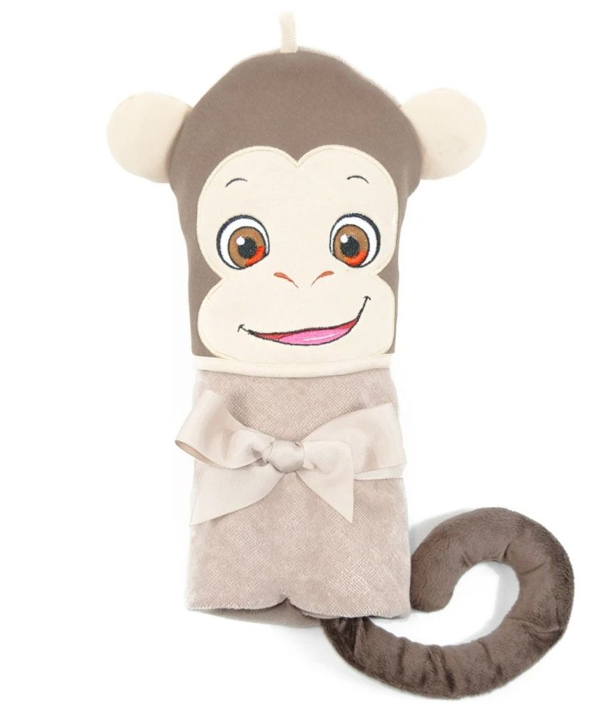 Personalised Embroidered  Monkey Hooded Towel