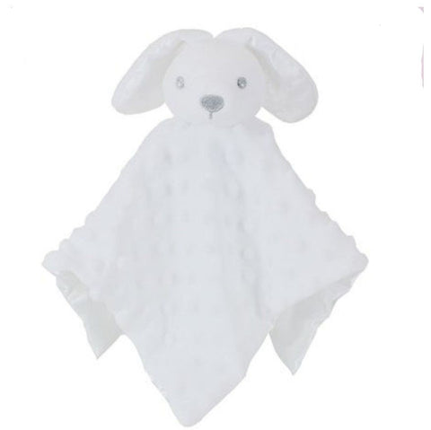 Personalised White Bunny Rabbit Baby Blankie