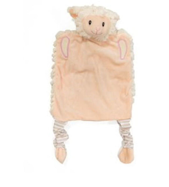 Personalised Embroidered Lamb Puppet Comforter Blankie