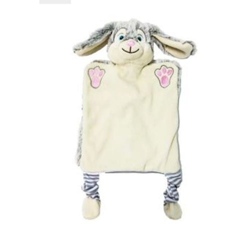 Personalised Embroidered Bunny Rabbit Puppet Comforter Blankie