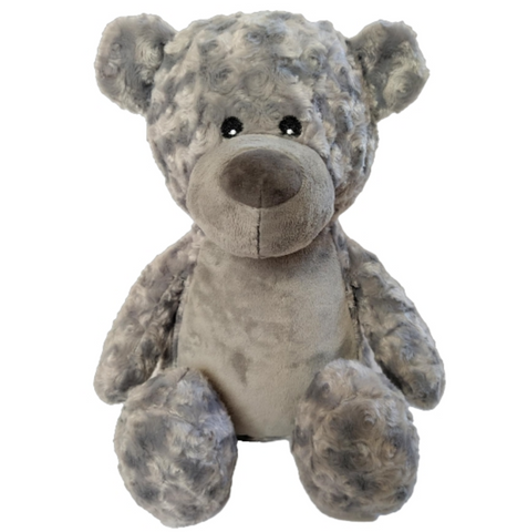 Mr Darcey - Personalised Embroidered Teddy Bear - Grey