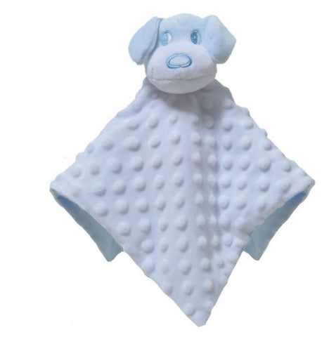 Personalised White and Blue Puppy Dog Baby Blankie