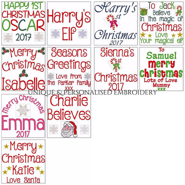 Tinsel Toes - Personalised Embroidered Christmas Elf