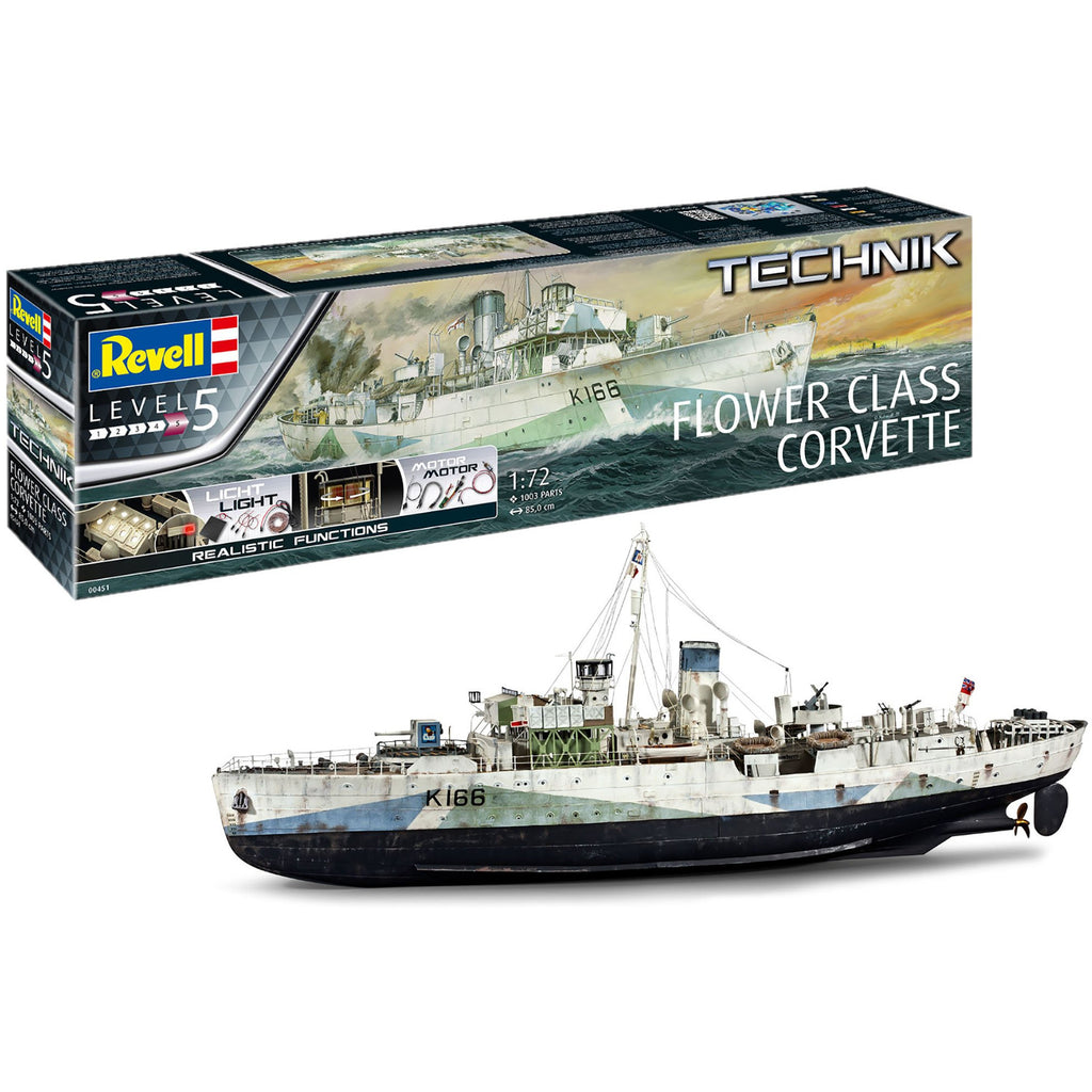 Revell-of-Germany-1-72-Flower-Class-Corvette-Technik