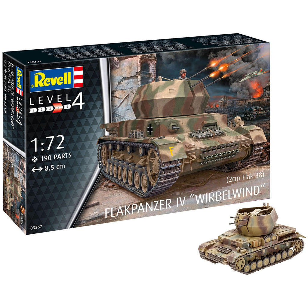 Revell-of-Germany-1-72-Flakpanzer-IV-Wirbelwind-2-cm-Flak-38