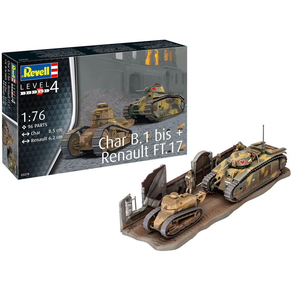 Revell-of-Germany-1-76-Char-B1-bis-Renault-FT17