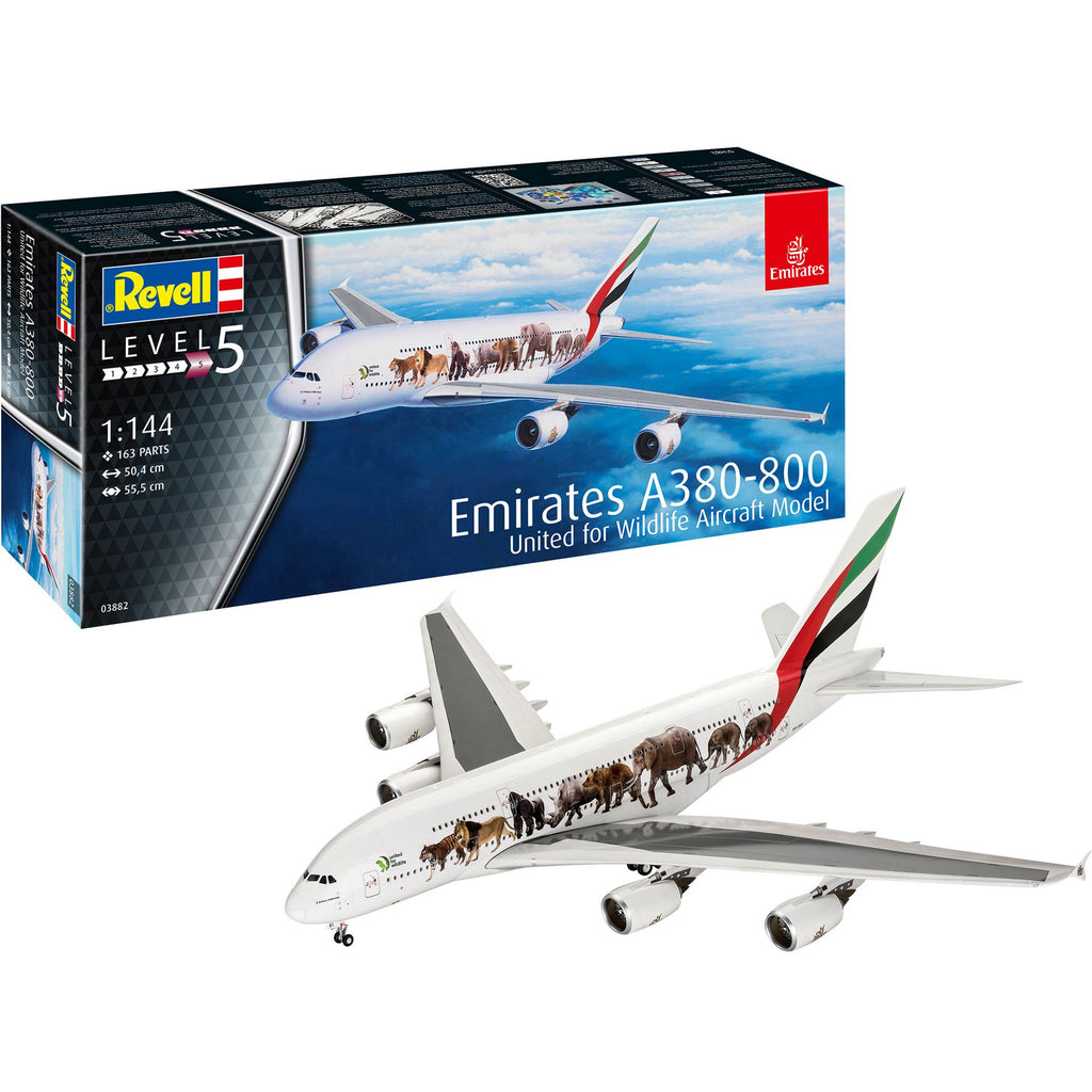 Revell-of-Germany-1-72-Airbus-A380-800-Emirates-Wild-Life