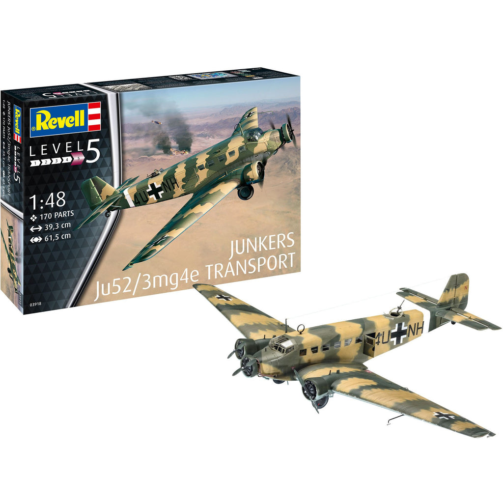 Revell-of-Germany-1-48-Junkers-Ju52-3m-Transport
