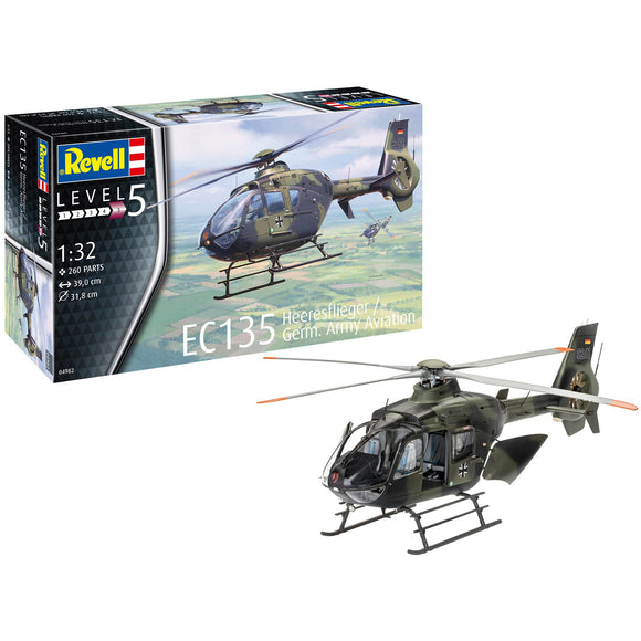 Revell-of-Germany-1-32-EC135-Heeresflieger-Germ-Army-Aviation