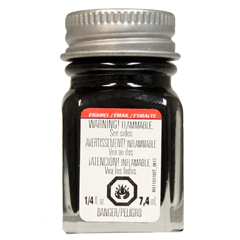 Testors Enamel Paint Black - Semi Gloss