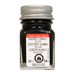 Testors Enamel Paint Black - Metallic