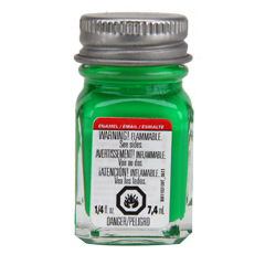 Testors Enamel Paint Green - Fluorescent